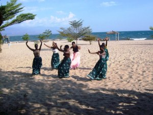 Young women's traditional dance