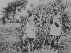 Batwa men in the early 19th.C., photographed by Oscar Baumann