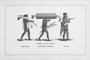 Ivory and cloth porters