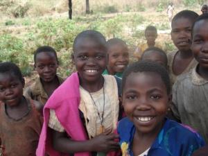 Batwa girls in a local school