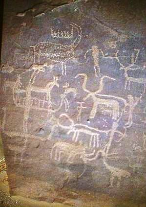 Rock art in the Red Sea Hills shows a wide variety of wild and domestic animals, as well as boats, that were found before late and post Holocine climate changes.