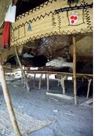 Interior of a Beja tent.