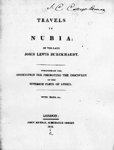 Burckhardt-Travels in Nubia