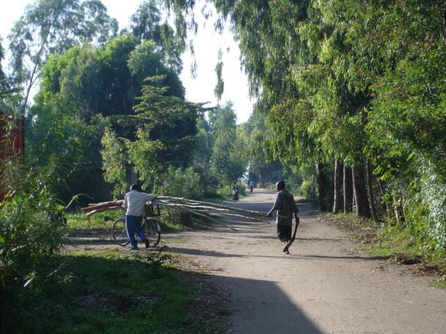 The main road in Kajaga village.
