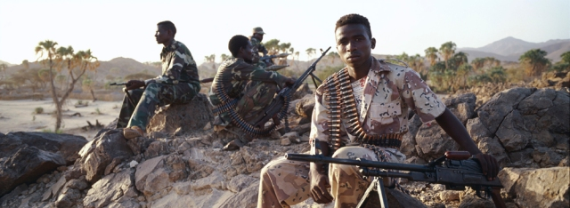 Beja rebels on patrol.  Source: Pulitzer Center
