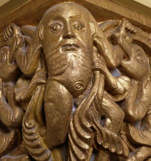 wegnaarparadijs-'Capital with Blemmyes', 12th century, Sint Servaaskerk