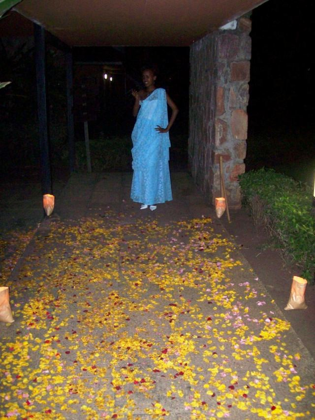 Rose petals - give off a wonderful fragrance as they are walked over