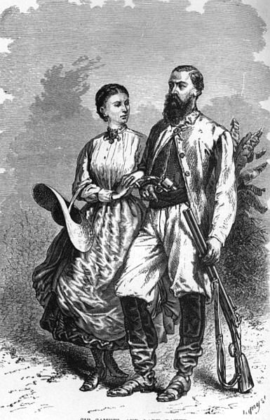Samuel & Florence Baker in central Africa, ca. 1862.  Source: Wikipedia