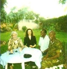 Regular entertaining of the  military and others living through these times.  Here, a BBQ with the head of security forces in our area.