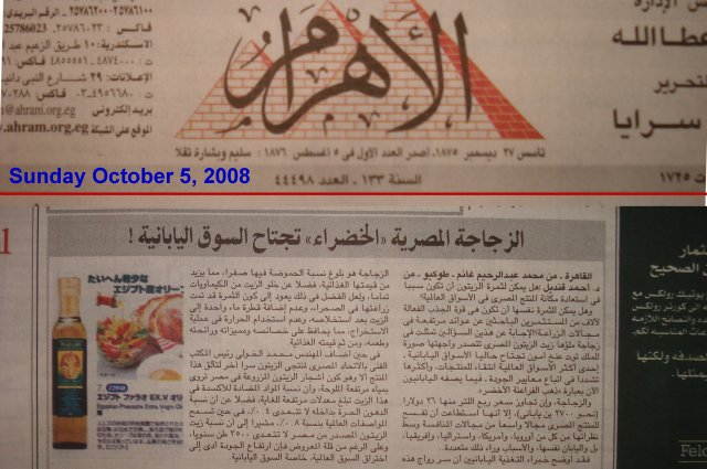 al-Ahram newspaper is the most popular in Egypt.  This article is on Japanese-Egyptian business ventures.