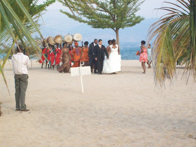 A stroll by Lake Tanganyika with ntori drummers, di rigeur if the family can affort it