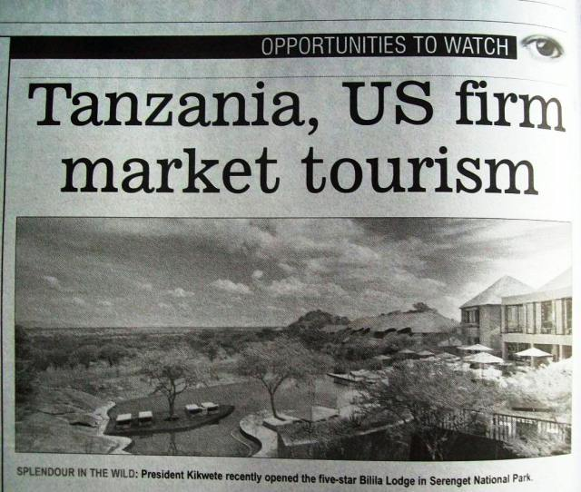 Although tourism has fallen in East Africa due to global financial turns, investments are continuing