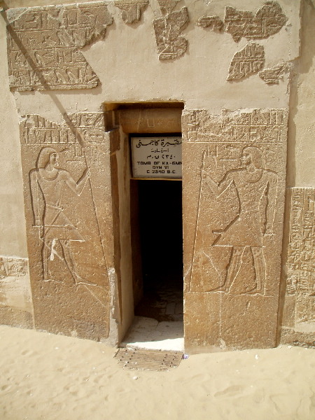 Mastaba (tomb) of Kagemni under Pharaoh Teti I of the VI Dynasty
