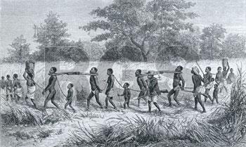 Captive slaves.