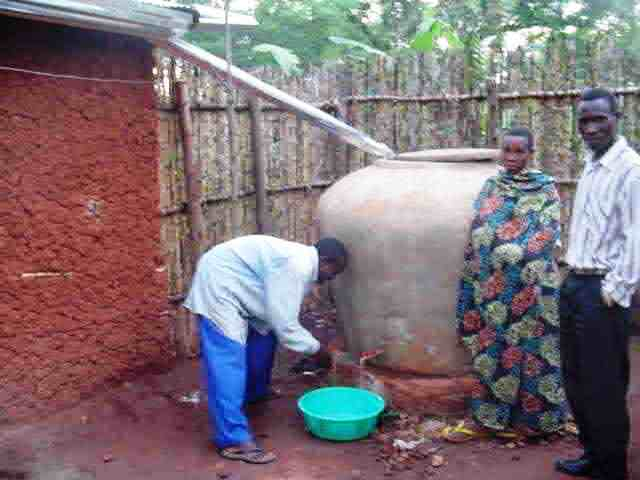 Rainwater tanks for smallholders in eastern Burundi, where I consult from time to time