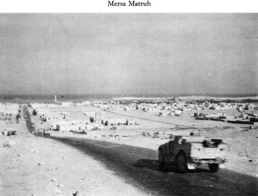 Mersa Matruh during World War II; in the early 80's the town had not grown far beyond this.  Source:  Univ. of Wellington