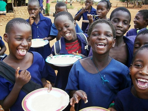 Mukuni basic school feed ing program, Zambia. Source:  Butterfly Program
