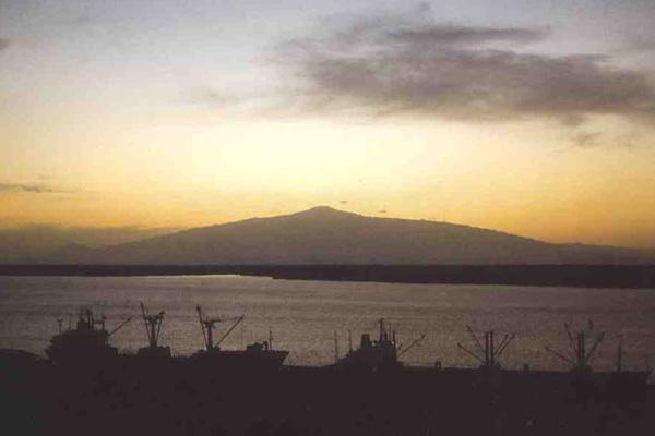 Mt. Cameroon from the sea.  Source:  skimountaineer.com