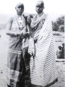 Mission girls, Burundi.  c. 1910