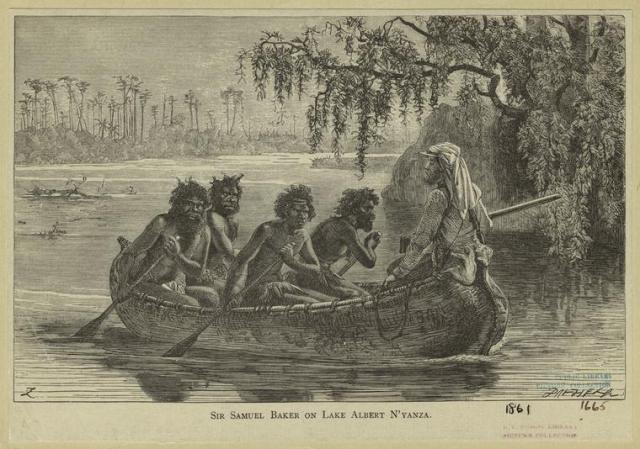 Sir Baker in Lake Albert N'yanza.  Source: