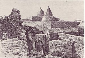 Fakhr Ad-Din Mosque built in the 13th Century in Mogadishu. Photo in 1882. From E.Cerulli, Somalia, Scritti Vari Editi ed Inediti, Vol. 1