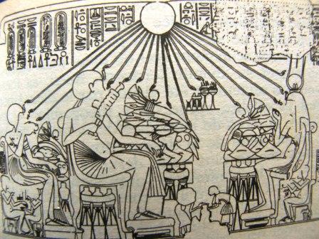 A BBQ at Amarna, palace of Akhenaton and Nefertiti