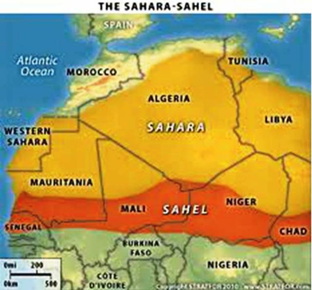 Map Sahel And Sahara Desert Africa