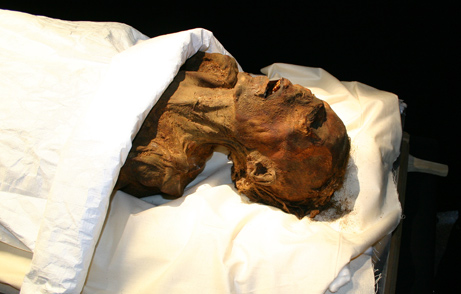 The so-called Screaming Mummy - possibly Prince  Pentewere, the son of Ramesses III who may have been implicated in the killing of his father.  Source - NatGeo
