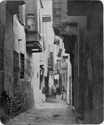 A street in old Cairo, about the time she would have been visiting.