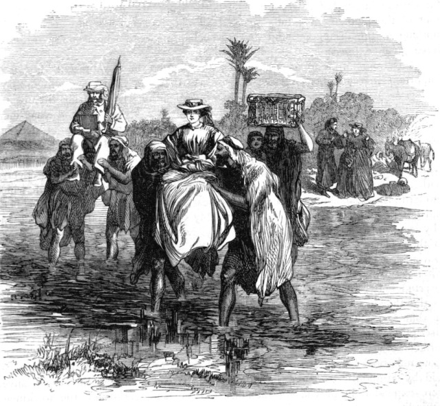 To the pyramids.  Source: Manning - Excursion aux pyramides