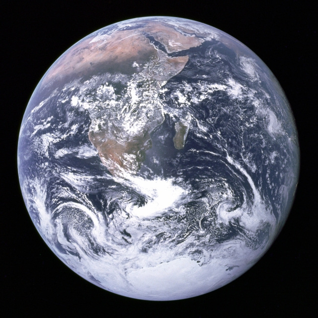 The earth as seen from Apollo 17.  Source: Wikipedia
