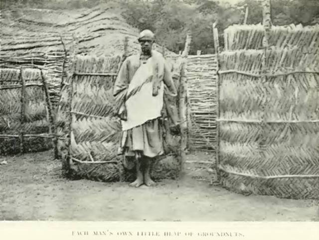 Village headman in front of 'bamboo'  Source: Gaunt-Alone in West Africa