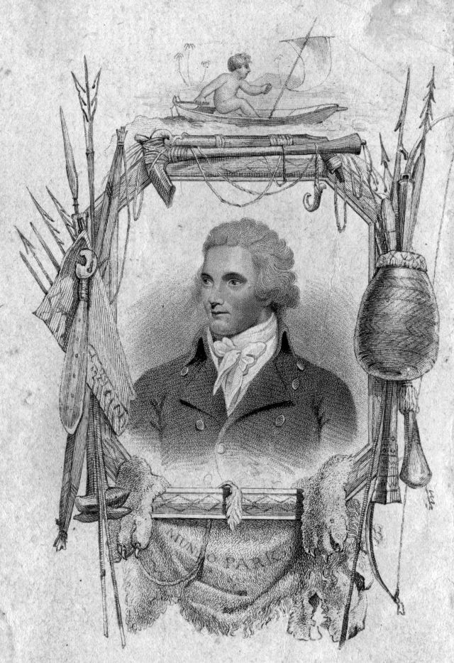 circa 1820:  Engraving of the African explorer, Mungo Park (1771 - 1806), by W T Fry.  (Photo by Hulton Archive/Getty Images)