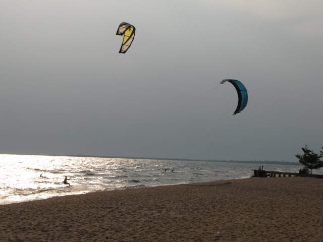 Dry season brings heavy winds in the afternoon, so wind surfing on Lake Tanganyika  is quite a popular sport during the dry season.