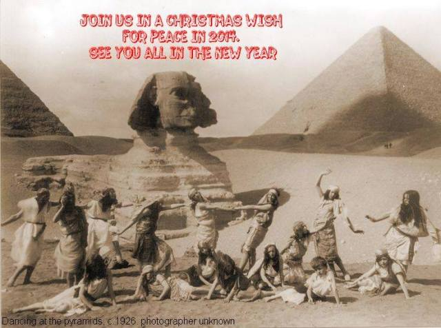 ... and be sure to dance about the pyramids and sphinx! Source: Petrie Museum Unofficial Page, FB