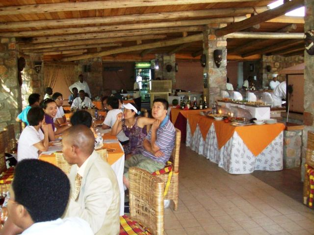 Waiting for lunch at the Hotel Club du Lac, Lake Tanganyika Burundi