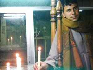 On entering churches, worshipers can light a candle. - Source: HolyFamlyEgypt