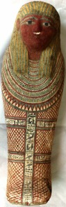 Small mummy case of the 26th Dnyasty, ca. 600 BC.  Source - Swansia Egypt Center.