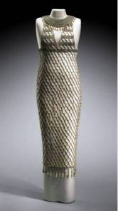 Reconstructed beadnet dress,Old Kingdom, Dynasty 4, reign of Khufu, 2551–2528 B.C. .  Source - Giza, tomb G 7440 Z. 1927: excavated by the Harvard University-Museum of Fine Arts Expedition; 1927: assigned to the MFA by the government of Egypt.