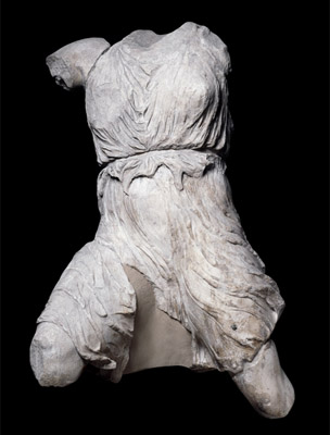 Iris, from the west pediment of the Parthenon, now in the  British Museum. Source - British Museum.