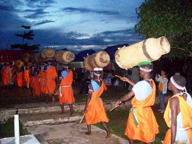 If possible, a large troupe of  traditional drummers will be invited to perform; traditional dancers might also be invited.
