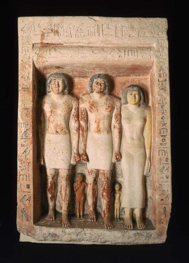 Penmeru (2x(, his wife and his two children.  Source: Boston Museum of Fine Arts pseudo statue