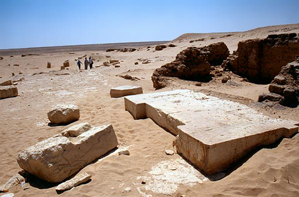 Ruins at Tebtunis.  Source - fayoum_tebtunis01