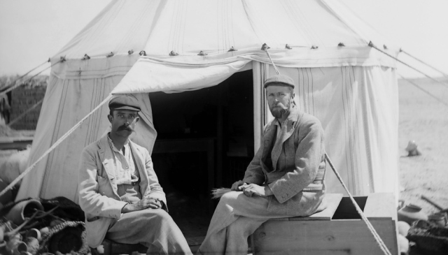 Grenfell and Hunt, during excavations at Oxyrhynchus-1896-1897 Source - EES