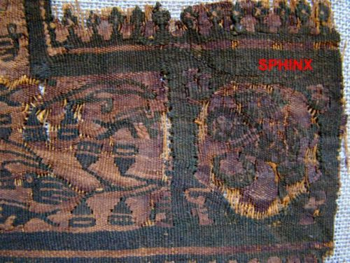MEDIUM SIZED COPTIC TEXTILE FRAGMENT; ANIMALS AND BIRDS, seller Sphinx.  Source - ebay.com