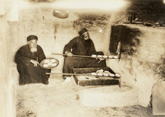 Monks baking the Holy Bread St.Anthony