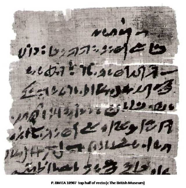 K. Donker van Heel, 'A day in the life of the ancient Egyptian goatherd Ityaa: abnormal hieratic P. Michaelides 1 and 2 (P. BM EA 10907 and 10906)', in JEA 90 (2004), p. 153-166 and