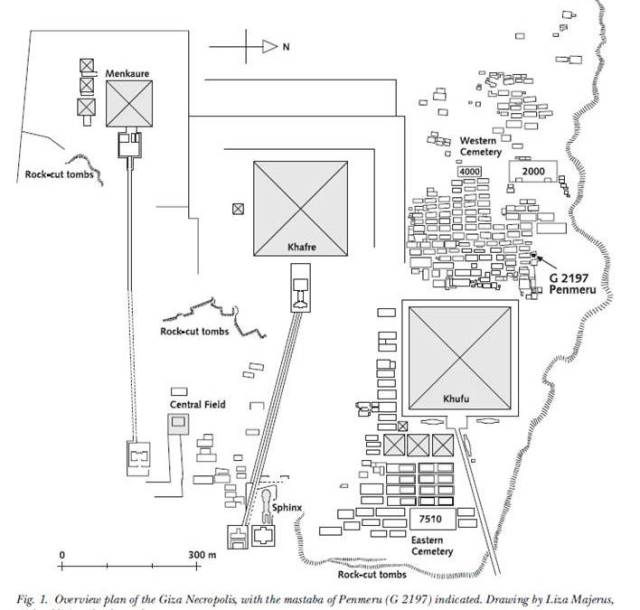 Giza west cemetary plan.  Source  -